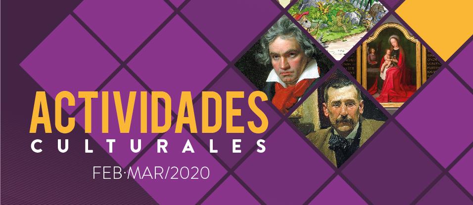 ACTIVIDADES CULTURALES FEBRERO Y MARZO 2020 EN CSC MAESTRO ALONSO