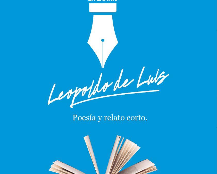"""XII edición del Certamen Literario """"Leopoldo de Luis"""" de Poesía y Relato Corto"""